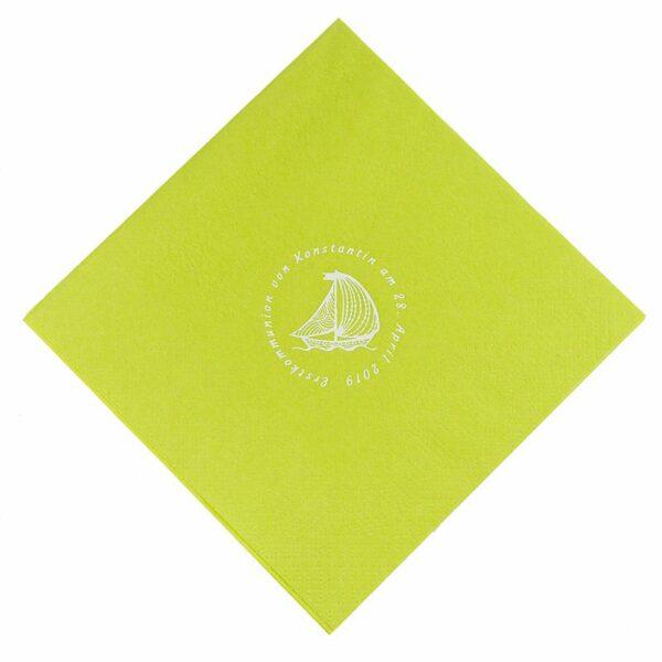 Servietten Duni Kiwi 33x33cm, persönlich bedruckt nach Kundenvorlage