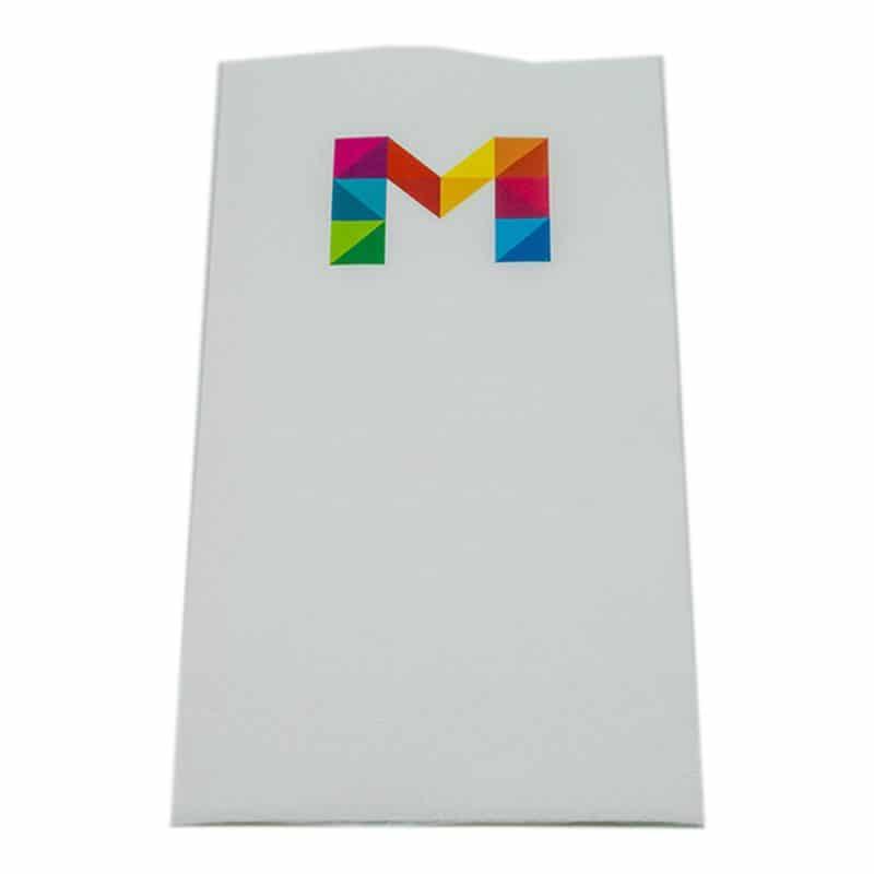 Servietten Digitaldruck, bedruckt mit Logo.